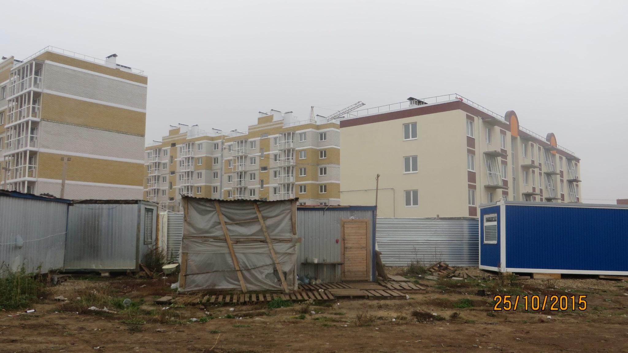 Фото домов ЖК Петровский квартал по Одоевскому шоссе г. Тулы. ООО СТРОЙ АЛЬЯНС