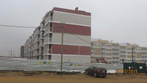 Фото домов ЖК Петровский квартал по Одоевскому шоссе г. Тулы. ООО АЛЬЯНС-СТРОЙ