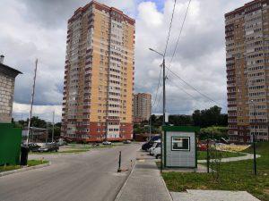 Фото жилых домов ЖК ПАРКОВЫЙ по улице Болдина 1Е г. Тулы. ООО Стройкомплект