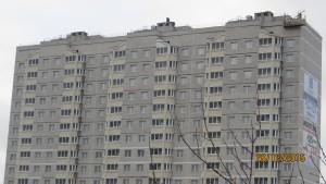 Фото дома номер 1 ЖК Московский по улице Павшинский мост г. Тулы. ООО ВАЛЛ ГК ООО ВЛАДАР