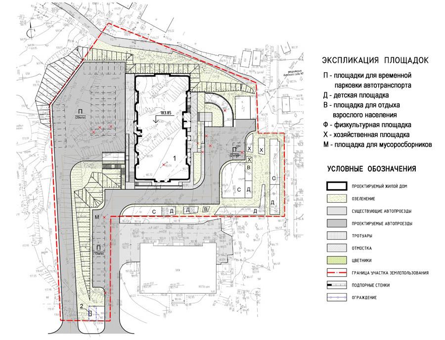 Ген. план жилого дома по улице Демонстрации