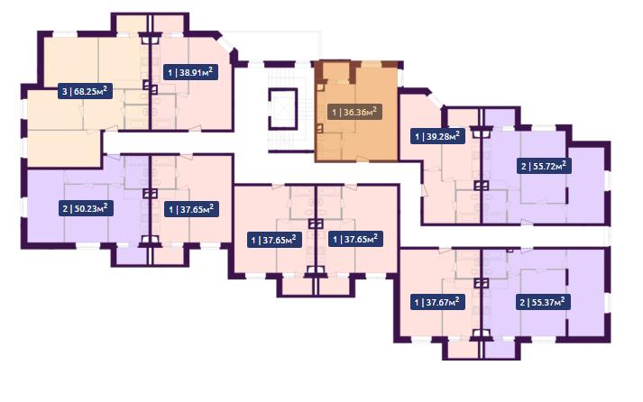 Планировка 1-го этажа ЖК Павлов по ул. Академика Павлова