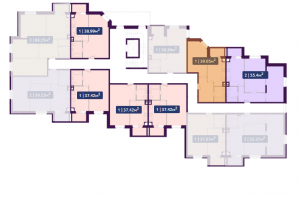 Планировка 6-го этажа ЖК Павлов по ул. Академика Павлова