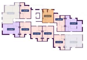 Планировка 8-го этажа ЖК Павлов по ул. Академика Павлова