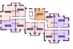 Планировка 9-го этажа ЖК Павлов по ул. Академика Павлова