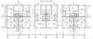 Планировка квартир в трехэтажных домах (форплексах) ЖК ПЕТРОВСКИЙ КВАРТАЛ
