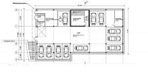 Планировка парковочных мест дома по ул. Одоевская д.31