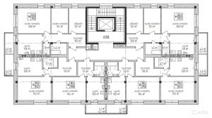 Планировка 2,3,4,5,6 этажей дома по ул. Одоевская д.31