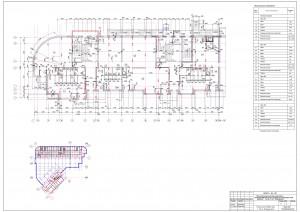 План нежилых помещений 1-го этажа. Секция А,Б ЖК МАКАРЕНКО