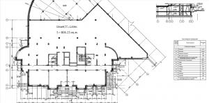 План нежилых помещений 1-го этажа. Секция Г ЖК МАКАРЕНКО