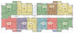 Планировка 3-го этажа 1-го дома ЖК НОВОЕ ЗАРЕЧЬЕ