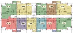 Планировка 4-го этажа 3-го дома ЖК НОВОЕ ЗАРЕЧЬЕ