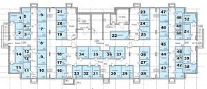 Планировка цокольного этажа 1-го дома ЖК НОВОЕ ЗАРЕЧЬЕ