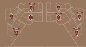 Планировка 3-го этажа корпуса А ЖК АристократЪ по ул. Софьи Перовской