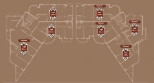Планировка 6-го этажа корпуса А ЖК АристократЪ по ул. Софьи Перовской
