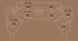 Планировка 7-го этажа корпуса А ЖК АристократЪ по ул. Софьи Перовской