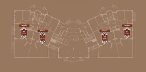 Планировка 2-го этажа корпуса Б ЖК АристократЪ по ул. Софьи Перовской
