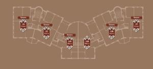 Планировка 3-го этажа корпуса Б ЖК АристократЪ по ул. Софьи Перовской