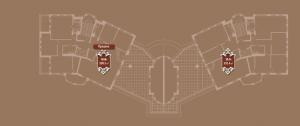 Планировка 5-го этажа корпуса Б ЖК АристократЪ по ул. Софьи Перовской