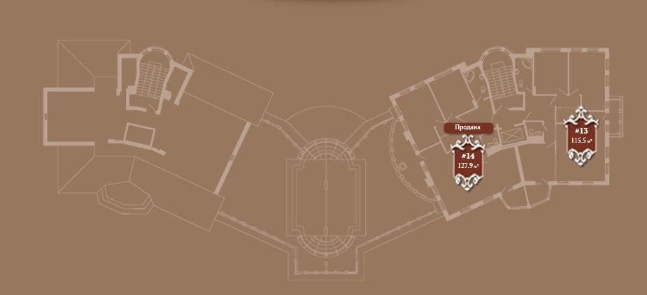 Планировка 6-го этажа корпуса Б ЖК АристократЪ по ул. Софьи Перовской