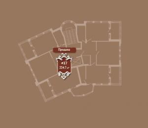 Планировка 8-го этажа корпуса Б ЖК АристократЪ по ул. Софьи Перовской
