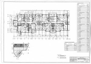 План 16 этажа секции А,Б ЖК МАКАРЕНКО
