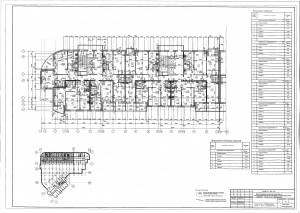 План 5 этажа секции А,Б ЖК МАКАРЕНКО