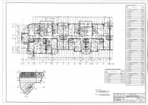 План 6 этажа секции А,Б ЖК МАКАРЕНКО