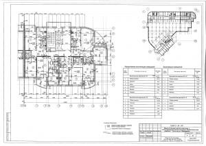 План 13,14,15 этажа секции В ЖК МАКАРЕНКО