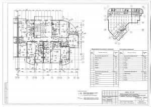 План 16 этажа секции В ЖК МАКАРЕНКО