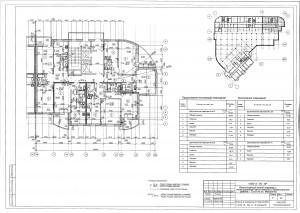 План 8,9 этажа секции В ЖК МАКАРЕНКО