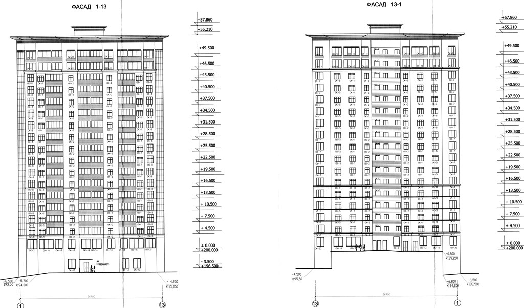 Схема проектировки домов ЖК МАКАРЕНКО