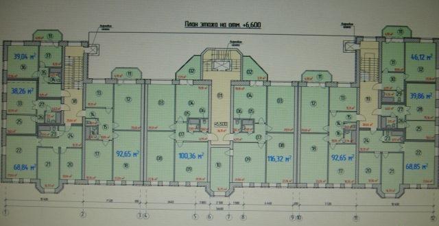 Планировка типового этажа ЖК ВИШНЕВЫЙ САД