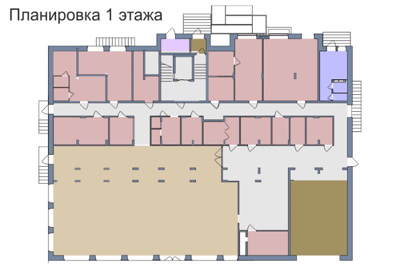 Планировка 1-го этажа 1-го дома ЖК Премьера по улице Октябрьская г. Тула