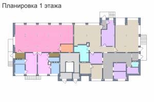 Планировка 1-го этажа 2-го дома ЖК Премьера по улице Октябрьская г. Тула