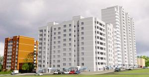 Общий вид жилого дома по улице Ершова 27 г. Тулы