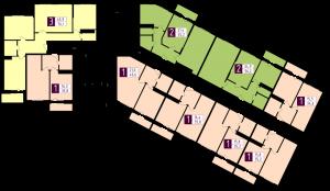 Планировка 1-го этажа ЖК РАССВЕТ