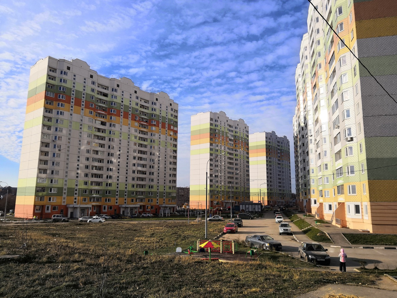 Фотографии домов 4-й Северо-Восточный микрорайон ЖК ПАРУС по улице Хворостухина г. Тула. ЗАО СУ-155