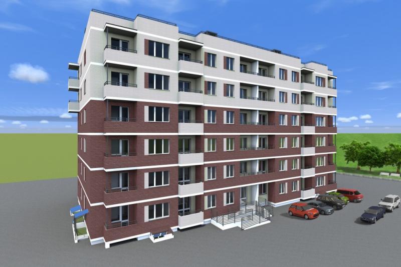 Общий вид жилого дома по улице Баженова