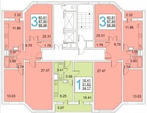 Планировка этажей в доме серии ИП-46С