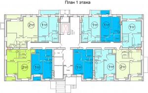 Планировка 1-го этажа жилого дома по улице Баженова