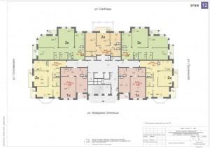 Планировка 12-го этажа 14-ти этажного дома ЖК ДВОРЯНСКИЙ