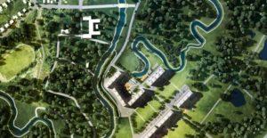 Общий вид ЖК Баташевский сад по Веневскому шоссе г.Тула