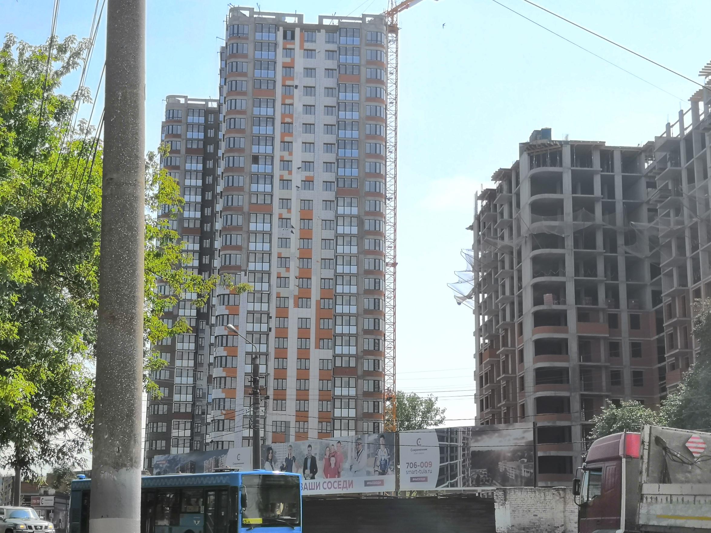 Фотографии домов ЖК SMART-квартал Современник по ул. Оборонная г. Тула ООО Современник