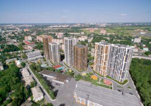 Общий вид ЖК Smart-квартал Современник по улице Оборонная г. Тула