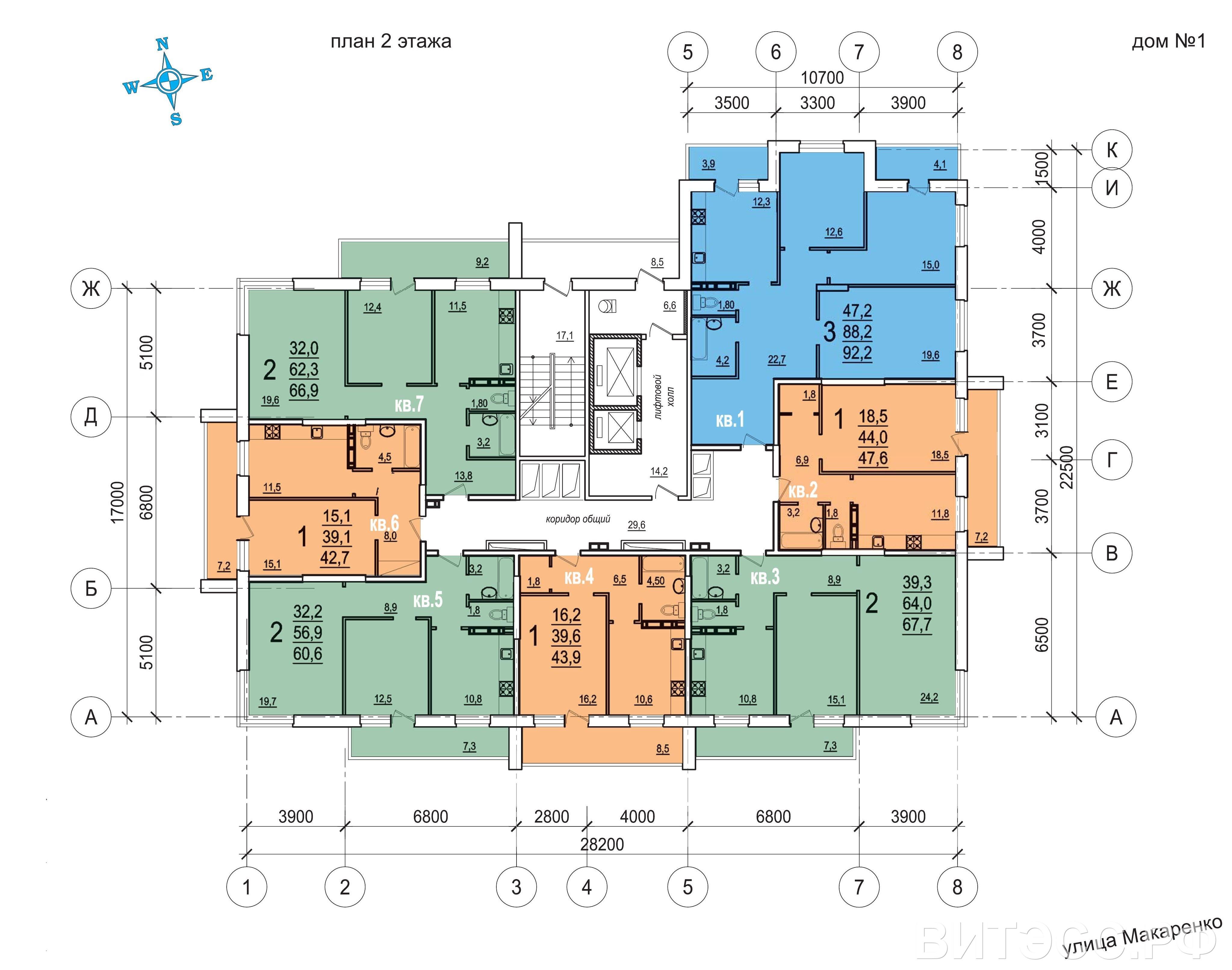 Планировки квартир в ЖК Солнечный г.Тула